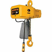 Ner Electric Chain Hoist W/ Hook Suspension - 20and039 Lift 1/2 Ton 15 Ft/min 460v