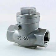 1/2 In. 316 Swing Check Valve 200 Psi Stainless Steel