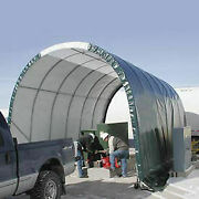 Solarguard Freestanding Building On Wheels 10and039w X 8and039h X 18and039l Green