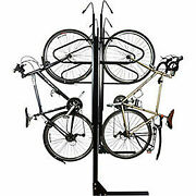 8-bike Vertical Bike Rack Double Sided Locking 72w X 90d
