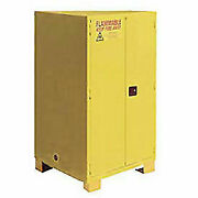 Flammable Cabinet With Legs, Self Close Double Door 60 Gallon, 34w X 34d X