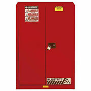 45 Gallon 2 Door Self-close Flammable Cabinet 43w X 18d X 65h Red
