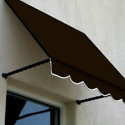 Awntech Window/entry Awning 10-3/8and039w X 3-11/16and039h X 3and039d Brown