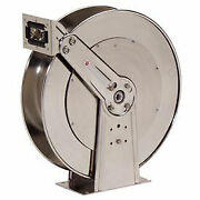 Stainless Steel Reel Ss Air/water Without Hose 3/4 X 75and039 Capacity 500 Psi