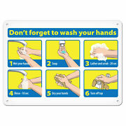 7andrdquo X 10andrdquo Donandrsquot Forget To Wash Your Hands Sign Vinyl Adhesive Lot Of 10