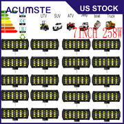 20pcs 7inch 258w Led Work Light Bar Driving Lamp For Off Road Tractor Truck 4wd
