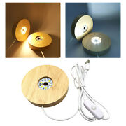Round Lighted Led Light Base Acrylic Display Lamp Usb For Crystals Resin Art