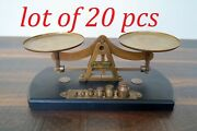 Antique Weighing Scale Balance Scale Jewelers 6 Weight 1 To 50 G Brass Working
