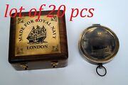 Antique Brass Titanic Compass Working With Wooden Box Marine Maritime Gift Item