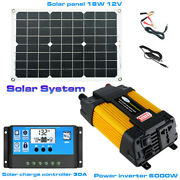 6000w Solar Power Charge Control System Dual Usb 30a Solar Charge Controller Set