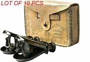 Vintage Antique Spy Glass 1857 R And J Beck Brass Binocular With Leather Case Gift