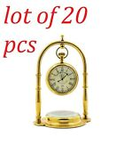 Brass Nautical Victoria London, Desk Clock/table Clock, With Direction Compass