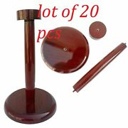 Wooden Helmet Stand Display Post For Medieval Helmets - Fold Able Wood Stand