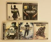 Ps3 Call Of Duty Advanced War Lot Mw 3 World At War Ghosts Recon Black Ops Ln