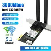 Dual Band Wireless Adapter Pci Express 3000mbps 2.4/5ghz Bluetooth 5.1 For Intel