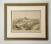Antique David Roberts English 1841 Lithograph The Church Of Purification Framed