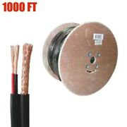 1000ft Siamese Cable Rg59 Video 20awg 18/2 Power Cctv Security Camera Bulk Wire