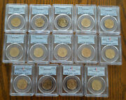 Lot Of 16 Pcgs Graded Sacagwea Dollars 200 To 2006 W Satin Finish And Ms69
