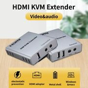 Hdmi Extender Usb Ethernet Cable 5v Audio Video Ir Transmitter Recevier Device
