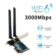 Desktop Wifi Card Adapter 1730mbps Stable Transmission Bluetooth Antennas Device
