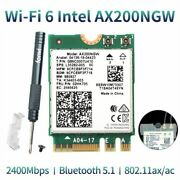 Wireless Dual Band Adapter 2400mbps Bluetooth 5.1 Wifi Card Laptop Equipment