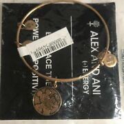 Alex And Ani Disney Parks Mickey Mouse And Pluto Bangle Bracelet In Gold