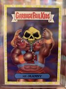 2018 Garbage Pail Kids We Hate The 80s 1a He-manny Yellow Parallel