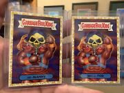 2018 Garbage Pail Kids We Hate The 80s 1a He-manny And 1b Skele-tor Gold Parallel