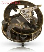 Vintage Brass 3 Sundial Compass Antique Nautical Navigational Collectible Gift