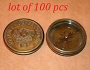 Antique Vintage Brass Maritime Compass Kelvin And Hughes 3 Poem Compass Good Gift
