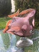 Murano Art Glass Large Fish Sculpture Signed See Pictures