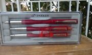 Parker Pens Lot Of Fountain Advertising Pens Pencil Gold Filled Vintage
