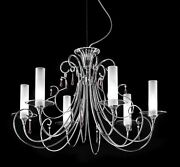 Suspended Lights Classic With Crystal And Glass Chrome