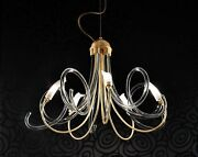 Suspended Lights Classic With Glass Of Murano Gold