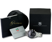 Tag Heuer Menand039s Carrera Automatic Cv2010-4 Stainless Steel Black Dial 41mm-mint