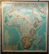 Vtg Nystrom Raised Relief Map Classroom Africa No. 5nr4 50x45