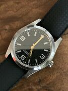 Explorer Homage 36mm Seagull St2130 Automatic Watch W/ Tropical Rubber Strap