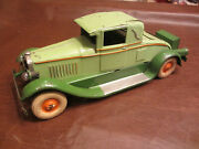 Pressed Steel 12.5 L 1929 Kingsbury Toys Coupe Wind Up Motor And Lights Toy Car