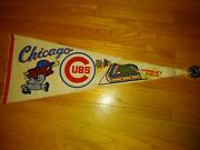 Vintage Chicago Cubs Full Size Felt Pennant Rough And Rare A Must For Real Fan