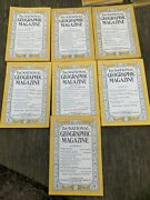 Vintage National Geographic 1941 Magazine Wwii War Era Issues Lot Of 7 Coke Ads