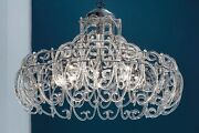 Suspended Lights Classic Chrome With Crystal Clear Transparent