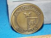 Vintage - 1978 Military Challenge Coin - Lone Star Loaders 136th Maps
