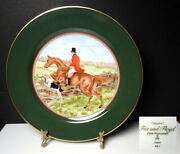 Fitz And Floyd Tallyho 9 1/8 Fox Hunting Plate, Light Brown Horse, Mint