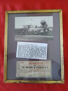 The Western And Atlantic R R Fifty Cents 1st Edition 1862 Georgia With Locomotive