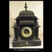 Antique Large S Marti Bronze And Marble Mantle Clock Roman Warrior