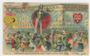 Uncle Sam Promotes Hub Shoes 1880's Trade Card