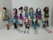 Monster High Doll Lot Of 8 × 2008 Mattel - 1 × 2009, 2011, 2013 - Good Used Cond
