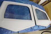 Nos Jeep Yj Wrangler 1/2 Hard Door Fabric Uppers W/ Frames Frost White 1988-1995