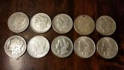 Lot Of 10 Morgan Dollars - 90 Silver - Mixed Years And Mints Bu And Au Wow Lot3
