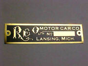 Reo Vehicles Early Logo Data Plate 1904 - 1913 Etched Aluminum Or Brass Choice